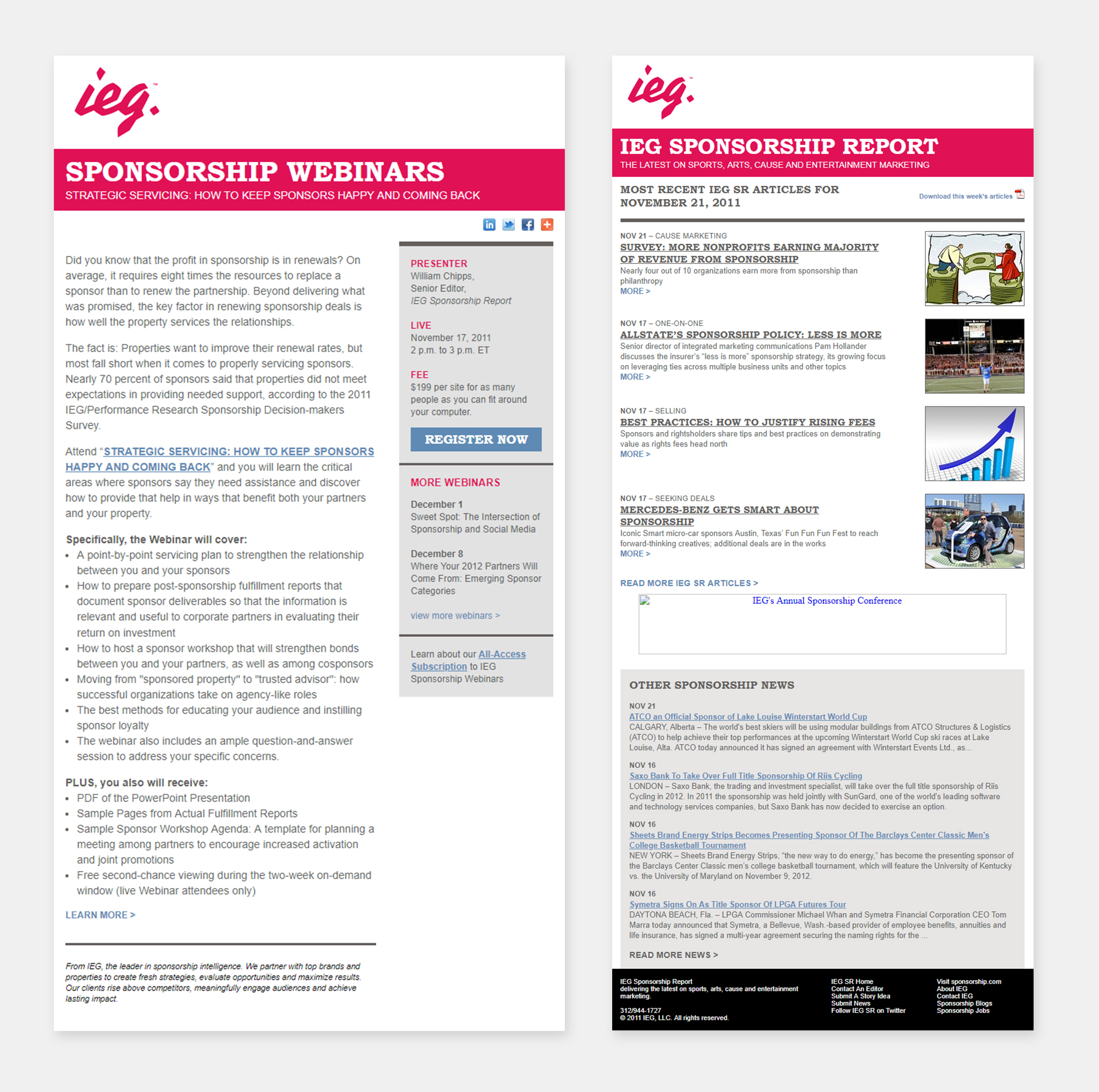 IEG newsletter template