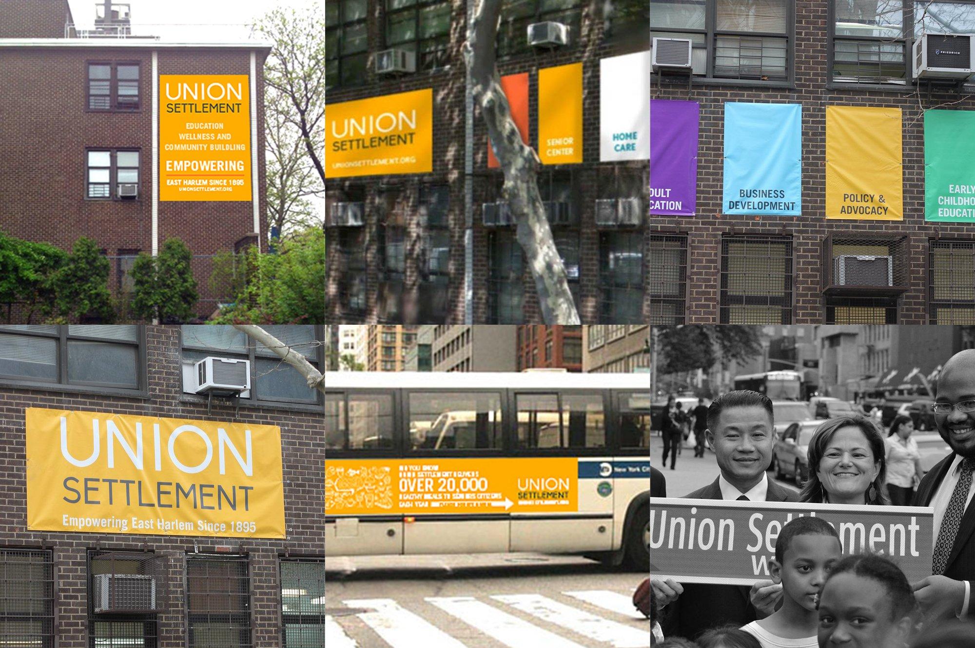 Union Settlement signage