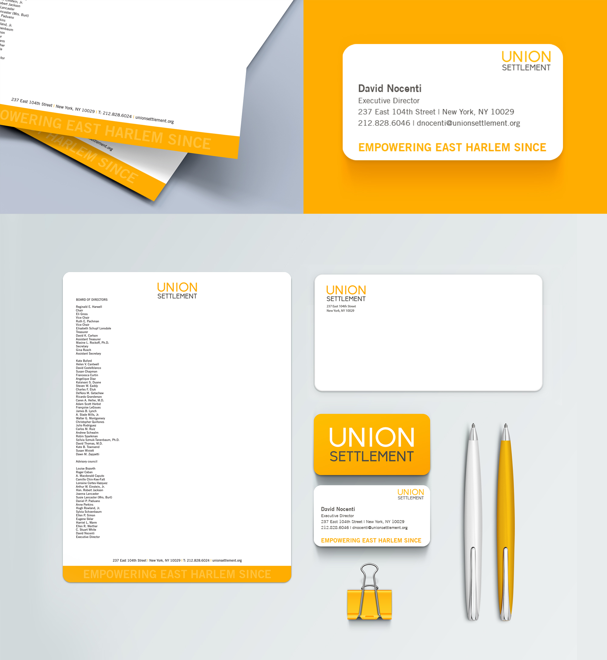 Union Settlement Stationery