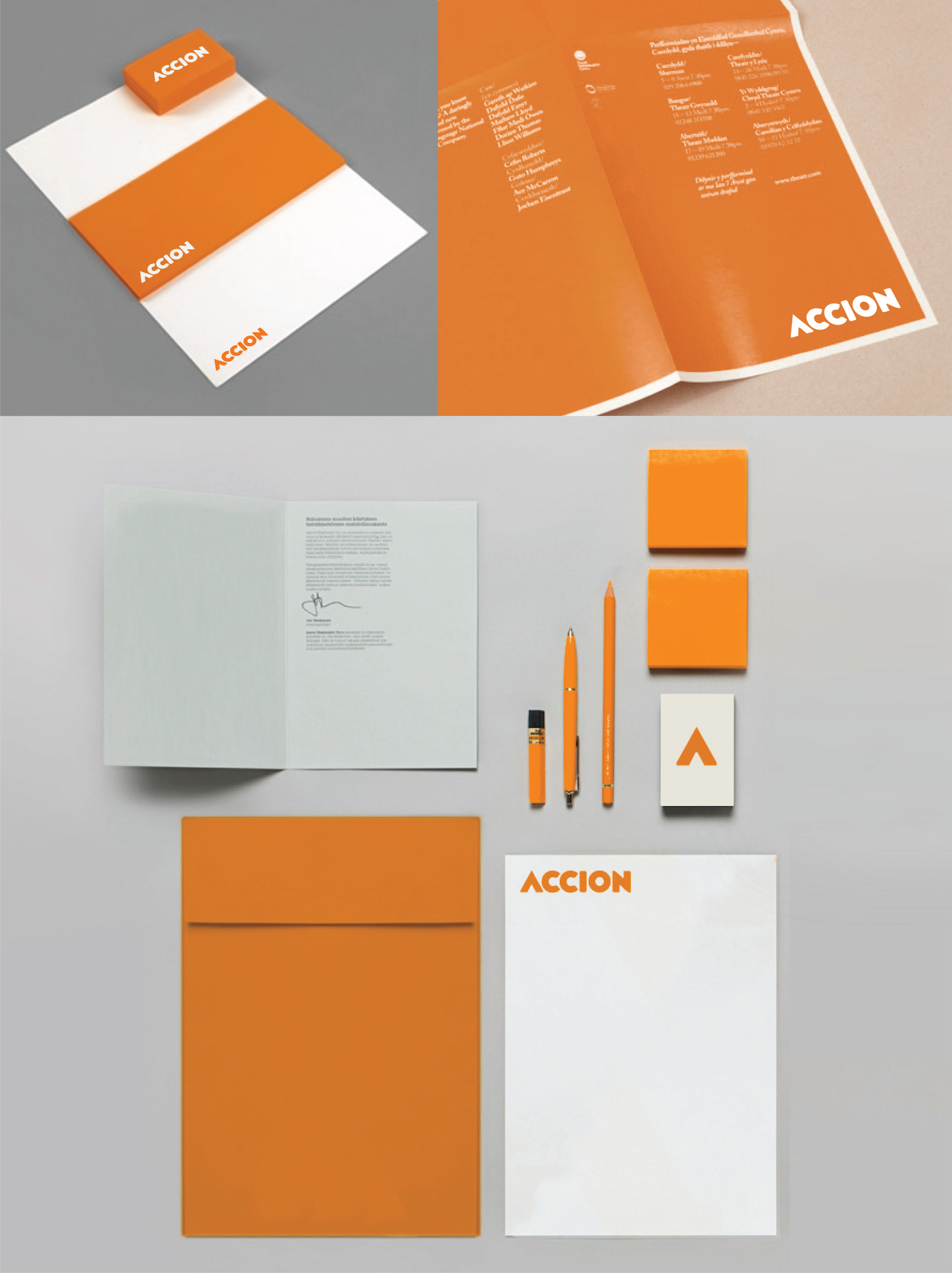 Accion stationery, paper products