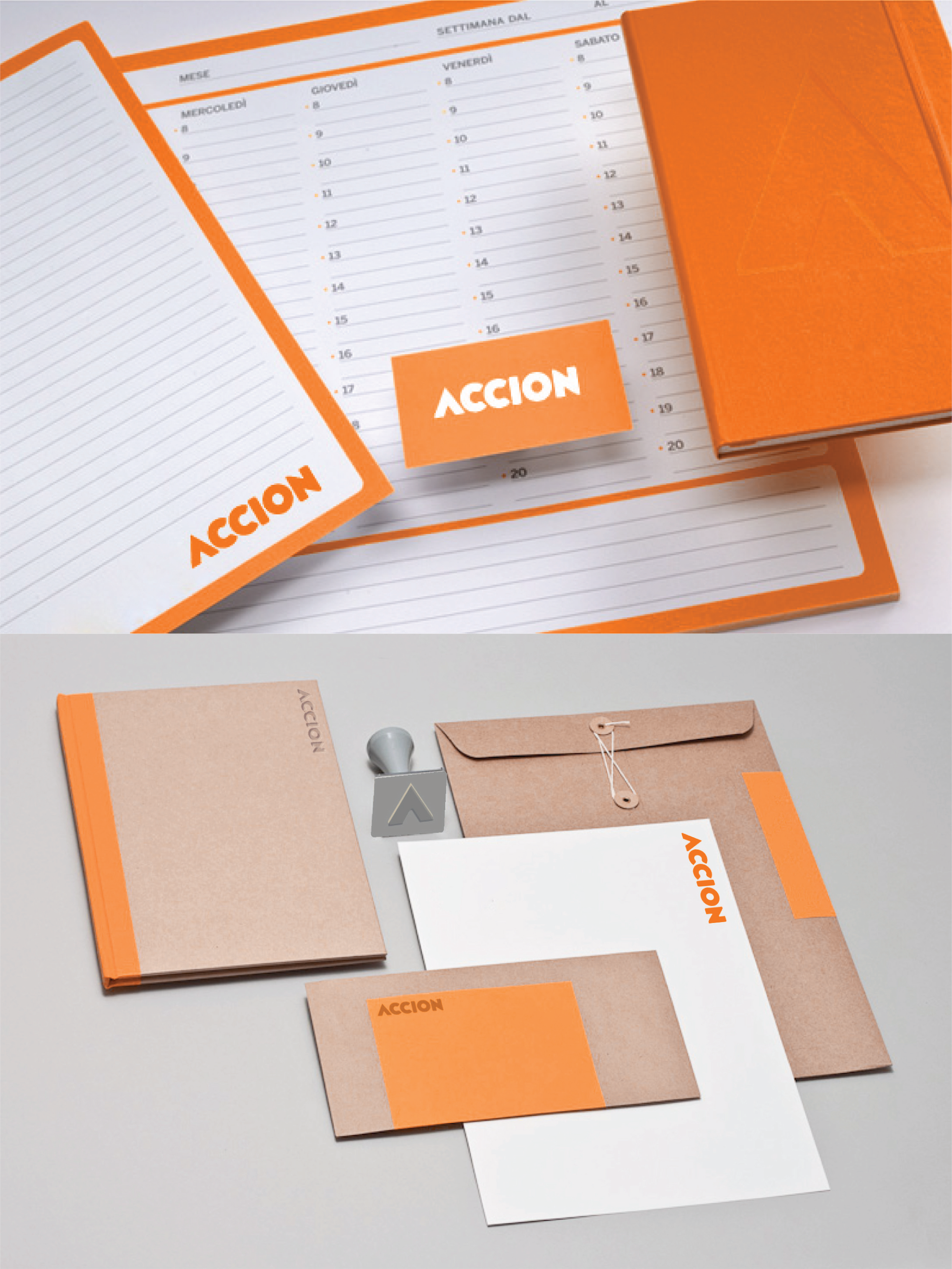 Accion notebooks, calendar, stationery